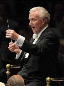 Sir Colin Davis conducts Beethoven's Missa Solemnis at the BBC Proms 2011. Photograph: BBC/Chris Christodoulou