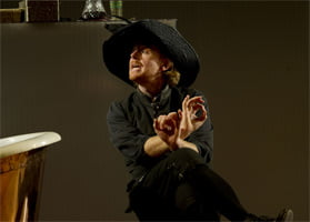 Iain Paterson as Figaro (The Marriage of Figaro, ENO, October 2011). Photograph: Sarah Lee
