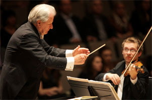 Sir Neville Marriner conducts I, CULTURE at the Royal Festival Hall, November 2011. Photograph: Nicky Thomas Media