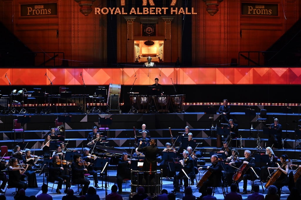 BBC Concert Orchestra and Principal Guest Conductor Anna-Maria Helsing with James McVinnie (organ), in music by Rautavaara, Arvo Part, Philip Glass and ending with Samy Moussa's A Globe Itself Infolding Photograph: Chris Christoudoulou / BBC