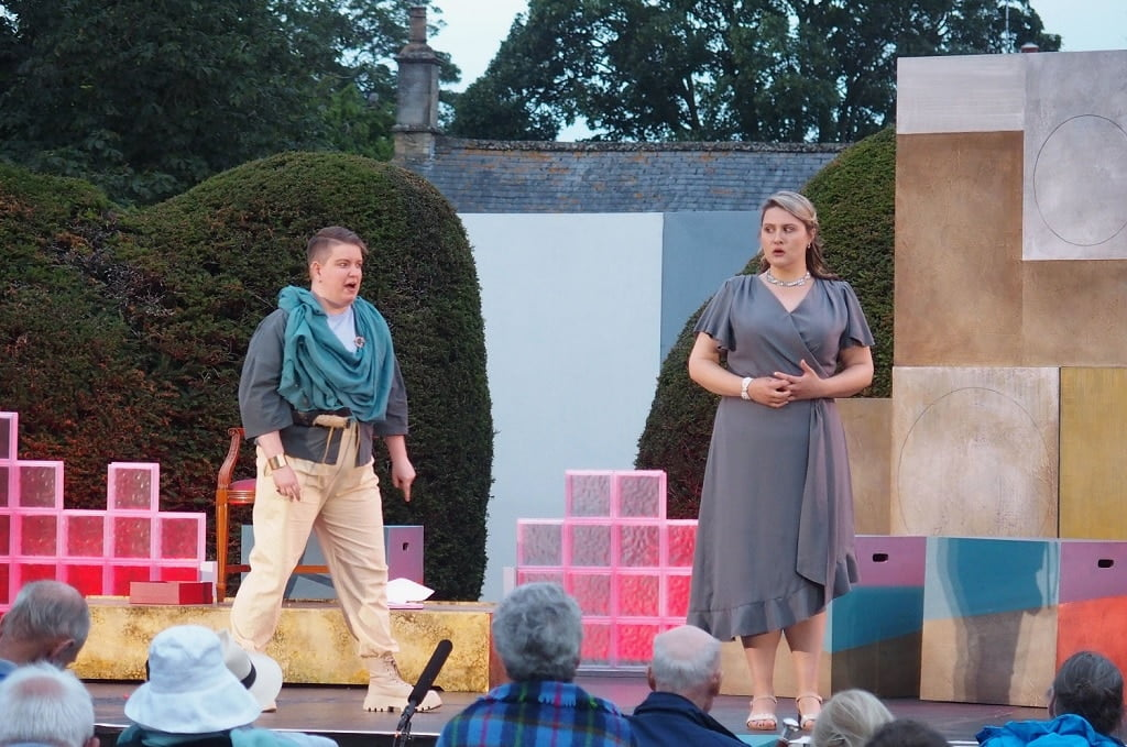 Bampton Classical Opera -- Ella Taylor (Paris) with Lucy Anderson (Helen), 'Paris and Helen' Photograph: Jeremy Gray