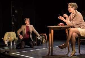 Buxton International Festival Samuel Boden as Acis and Anna Dennis as Galatea in Acis & Galatea Photograph: Genevieve Girling