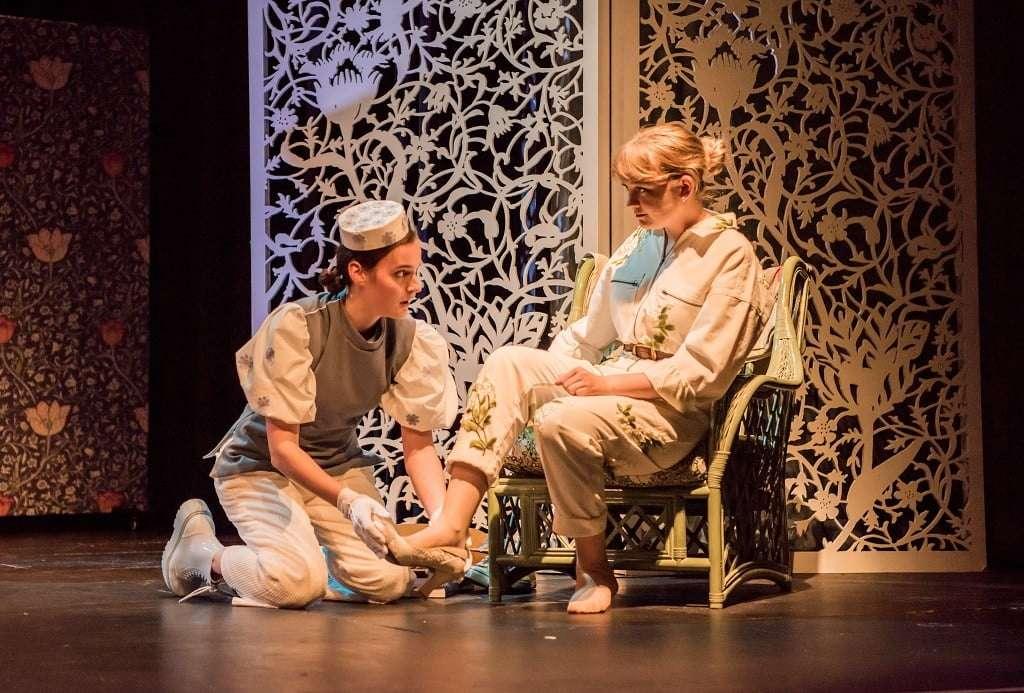 Buxton International Festival Camilla Seale as Le Prince Charmant, Nikki Martin as Marie (Cendrillon) Photograph: Genevieve Girling