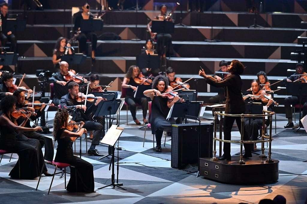 Chineke! conducted by Kalena Bovell. Photograph: Mark Allan
