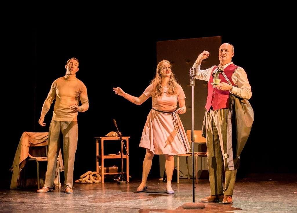 David Webb, Eleanor Dennis, Graeme Broadbent in The Dancing Master, Buxton International Festival. Photograph: Genevieve Girling