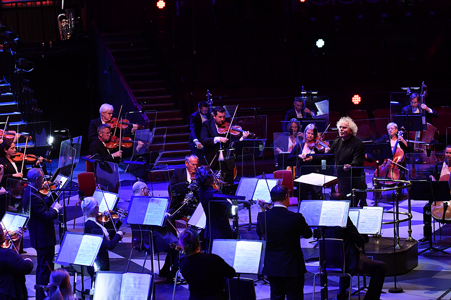 Sir Simon Rattle and the LSO. Photo: BBC/Chris Christodoulou