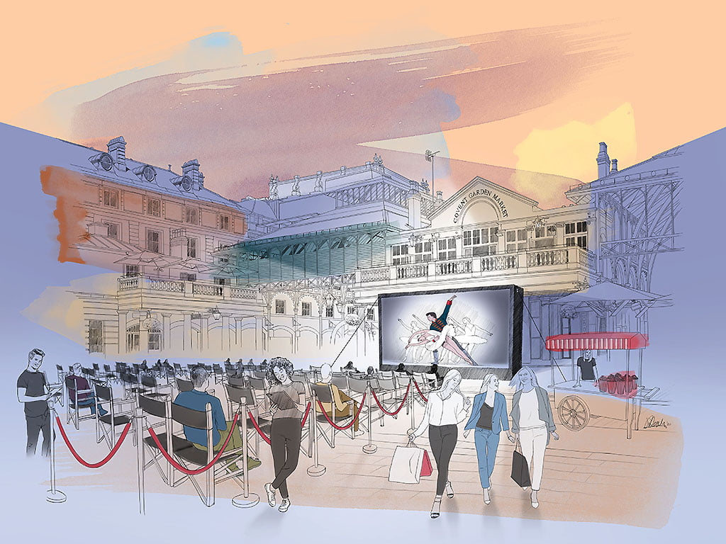 "COVENT GARDEN LAUNCHES OUTDOOR ""CINEMA ON THE PIAZZA"""