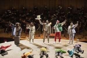 The Gods triumphant and The People desperate, Birmingham Opera Company, RhineGold, 2021©Andrew Fox