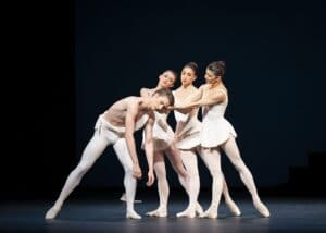 Vadim Muntagirov, Anna Rose O'Sullivan, Yasmine Naghdi, Mayara Magri in Apollo photo by Helen Maybanks ROH